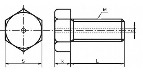 六角ボルト図
